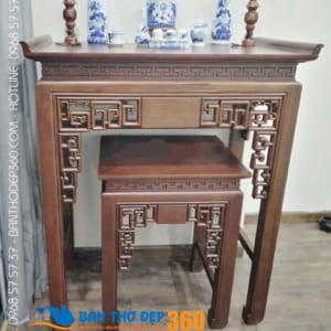 Báo giá bàn thờ đứng gỗ gõ đẹp hiện đại tại Hà Nội mới nhất!