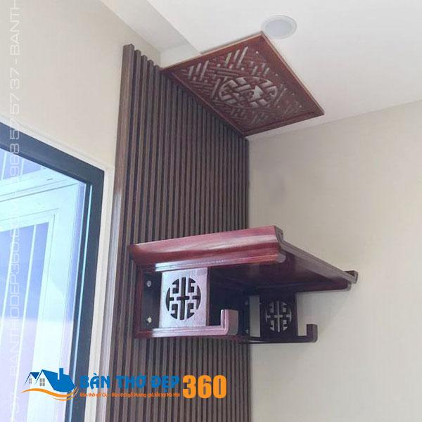 Bàn thờ treo tường chung cư đẹp Chuẩn Phong Thủy