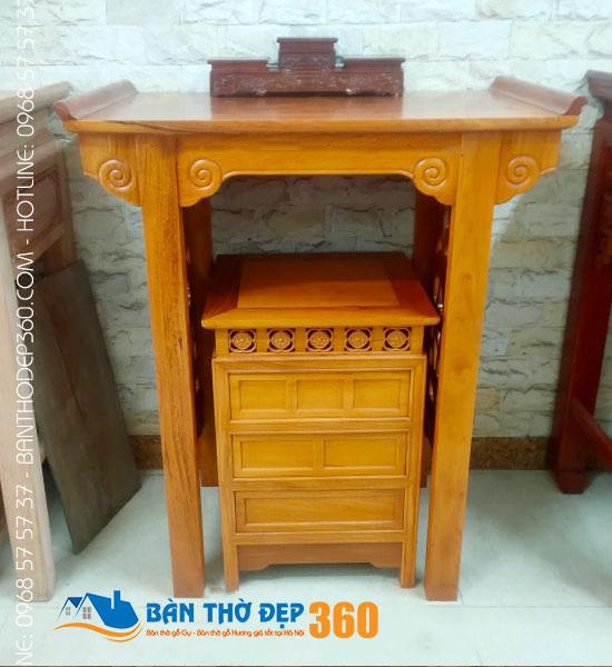Bàn thờ đứng đẹp – Các mẫu bàn thờ đẹp nhất Hà Nội