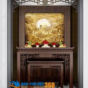 Mẫu bàn thờ đứng nhỏ đẹp hiện đại tại Hà Nội