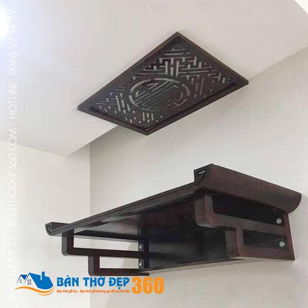 Địa chỉ bán bàn thờ treo tường 3 bát hương đẹp tại Hà Nội