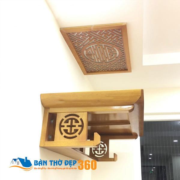 Bàn thờ treo tường cho nhà chung cư Đẹp Hợp Phong Thủy