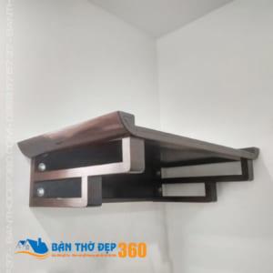 Bàn thờ treo tường đơn giản gỗ đẹp tại Hà Nội – BTTT007