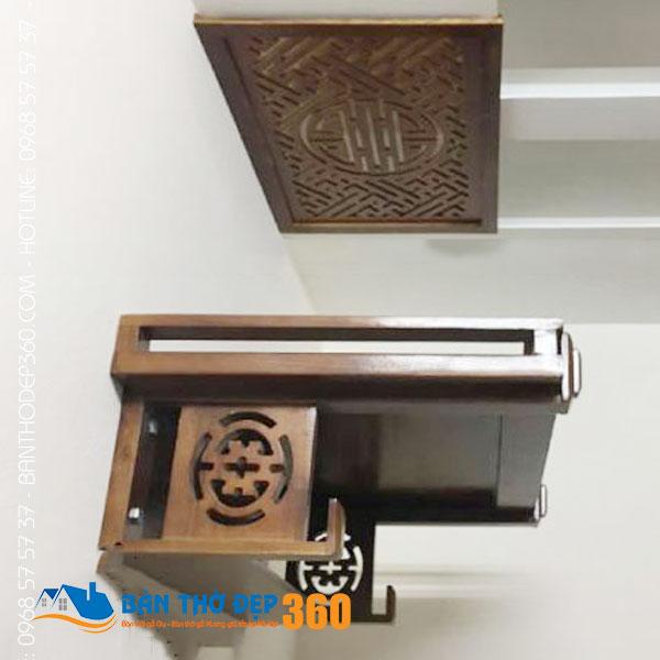 Cung cấp bàn thờ treo tường gỗ mít giá rẻ tại Hà Nội