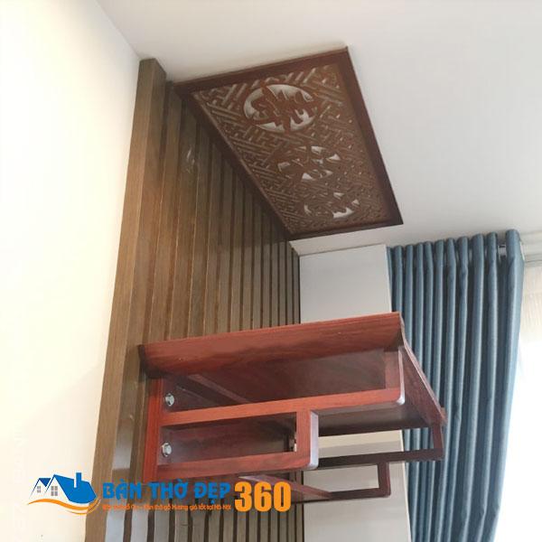 Bàn thờ treo tường gỗ mít đẹp hiện đại tại Hà Nội