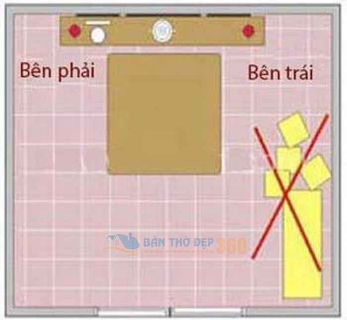 Hình ảnh: Bên trái bàn thờ nên được giữ gìn và dọn dẹp sạch sẽ thường xuyên