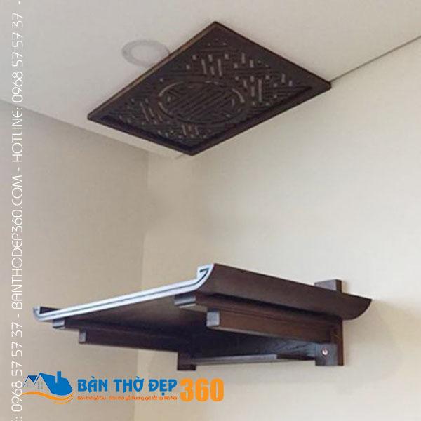Sản xuất bàn thờ treo tường chung cư đẹp giá rẻ tại Hà Nội