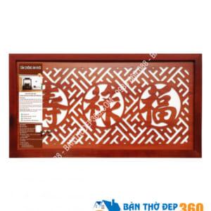 Tấm chống ám khói 41x81cm PHÚC – LỘC – THỌ (Hán) màu nâu