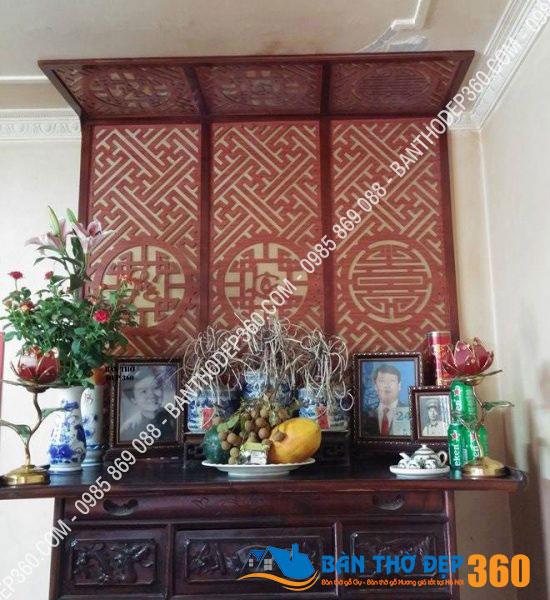 Bán Tấm chống ám khói bàn thờ kích cỡ  61x123cm Màu Nâu