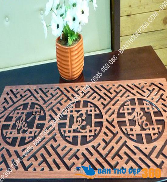 Tấm chống ám bàn thờ 41x81cm Vàng Sồi Phúc – Lộc – Thọ (Việt)