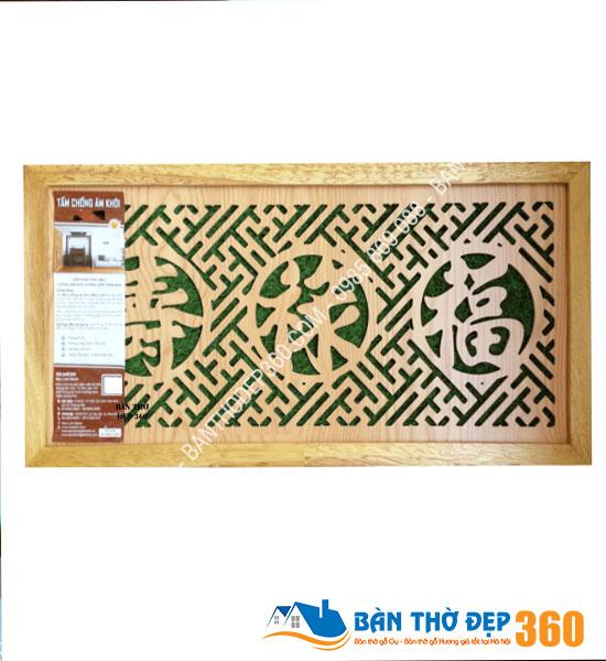 Tấm chống ám khói 41x81cm PHÚC-LỘC-THỌ vàng sồi