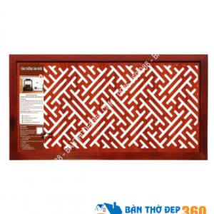 Tấm chống ám khói bàn thờ cao cấp 41x81cm chữ VẠN màu nâu