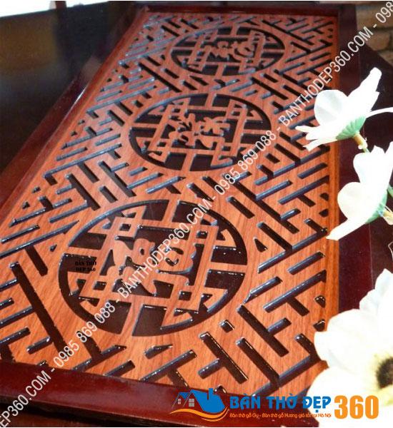 Tấm chống ám bàn thờ 41x81cm Màu Nâu Phúc – Lộc – Thọ (Việt)