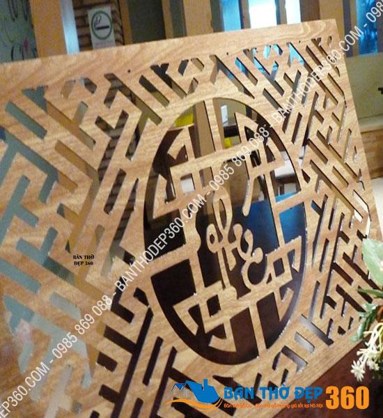 Tấm chống ám khói bàn thờ 41x61cm chữ LỘC màu sồi tại Hải Dương
