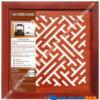 Tấm chống ám khói chữ Vạn Màu Nâu Kích Thước 41x41Cm giá rẻ tại HCM