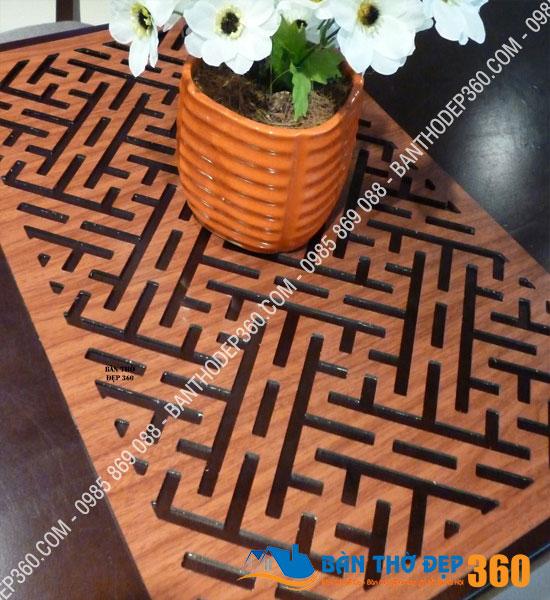 Tấm chống ám khói bàn thờ 41x61cm chữ VẠN màu nâu