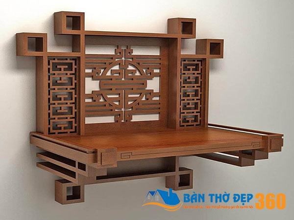 TOP 50 Mẫu bàn thờ treo tường chung cư hiện đại hợp phong thủy
