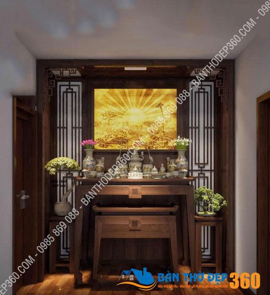 vach ngan cnc phong tho a15 - Top các mẫu Bàn thờ đứng Gỗ Hương đẹp, hiện đại bán chạy nhất hiện nay!
