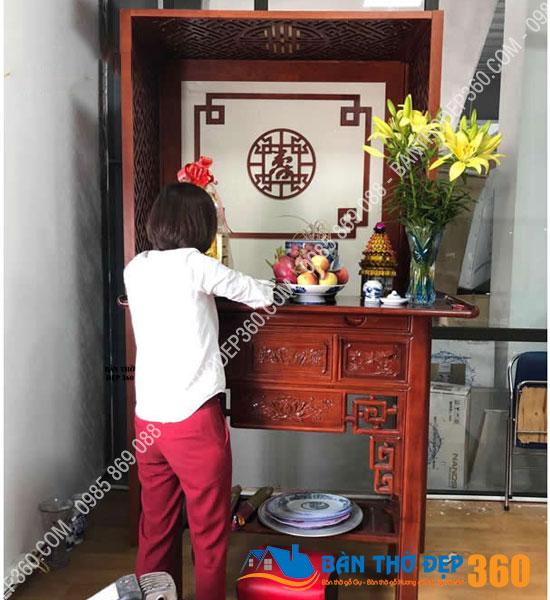 vach ngan cnc phong tho a16 - TOP 35 mẫu vách ngăn bàn thờ (Vách CNC) đẹp hiện đại, hợp phong thủy nhà bạn!