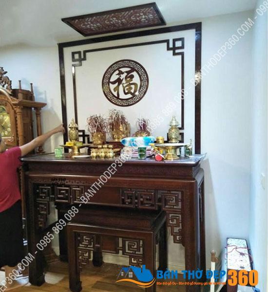 vach ngan cnc phong tho a23 - TOP 35 mẫu vách ngăn bàn thờ (Vách CNC) đẹp hiện đại, hợp phong thủy nhà bạn!