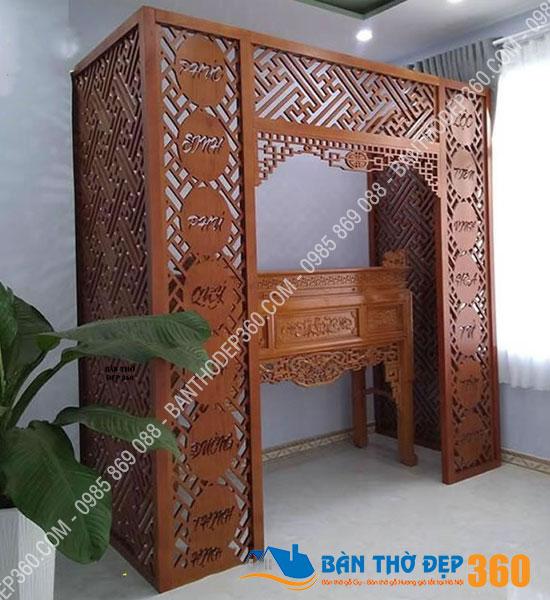 vach ngan cnc phong tho a28 - 50 mẫu bàn thờ treo tường hiện đại tại Bình Phước đẹp nhất 2020