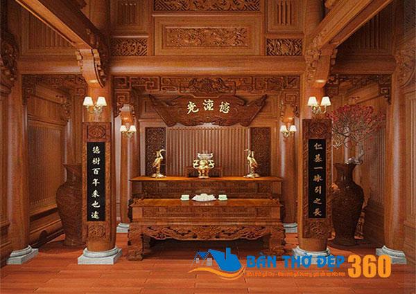 Tủ thờ tai Bắc Giang | Địa chỉ cung cấp bàn thờ uy tín chất lượng!