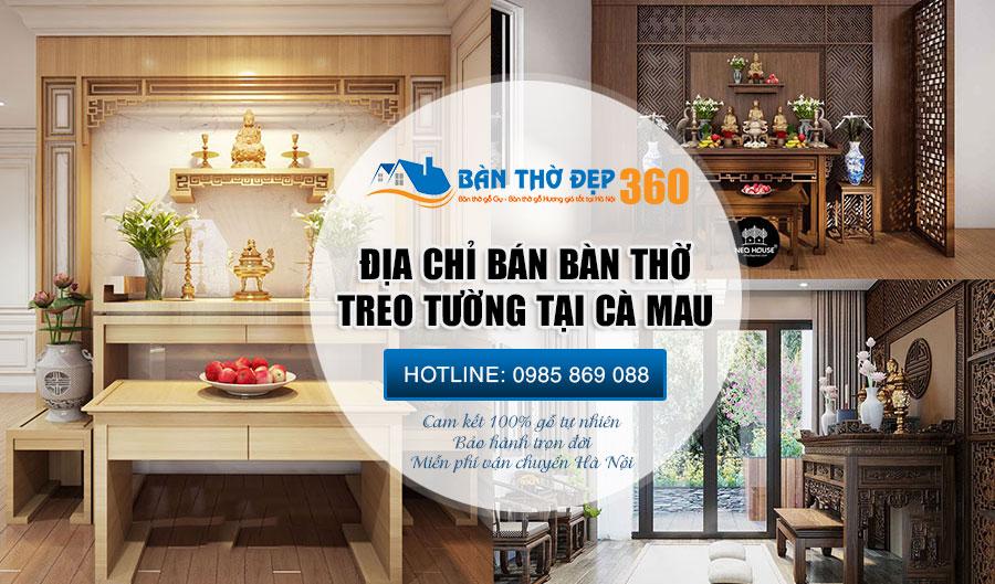 Bàn thờ treo tường | tủ thờ đẹp hiện đại cho chung cư - biệt thự tại Cà Mau