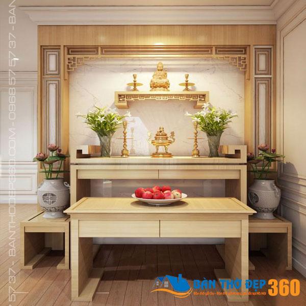Các mẫu bàn thờ hiện đại đẹp dành cho chung cư tại Hà Nội
