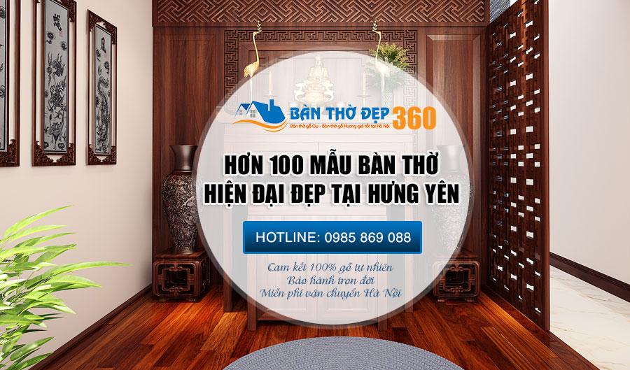 Bàn thờ treo tường, bàn thờ đứng tại Hưng Yên hiện đại giá rẻ!