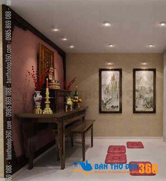 Thiết kế bàn thờ, phòng thờ chung cư giá rẻ Quận 3 HCM