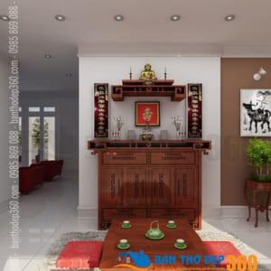 Thiết kế mẫu phòng thờ gỗ đẹp tại Quận Gò Vấp HCM