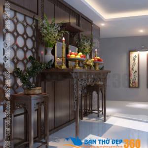 Thiết kế mẫu phòng thờ đẹp, hiên đại nhất 2021