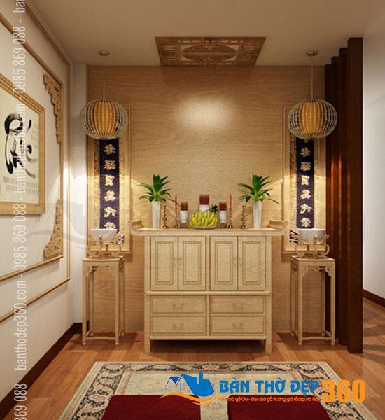 Nhận thiết kế phòng thờ chung cư Quận Phú Nhuận hiện đại