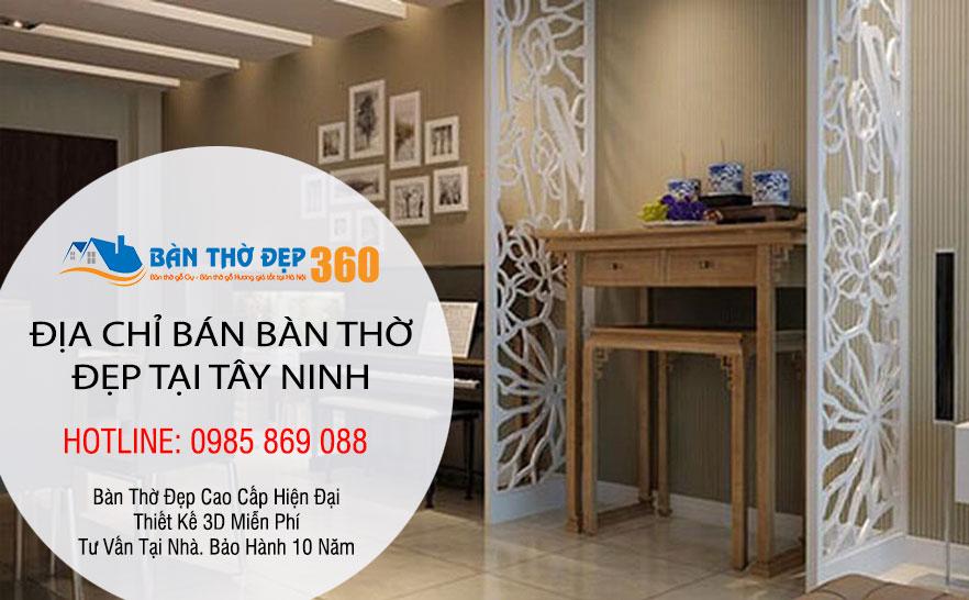Địa chỉ bán bàn thờ, sập thờ, bàn thờ chung cư đẹp tại Tây Ninh