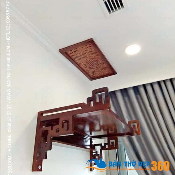 Bàn thờ treo đẹp gỗ gụ kiểu hiện đại