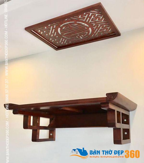 bàn thờ treo tường Gỗ Gụ Lào