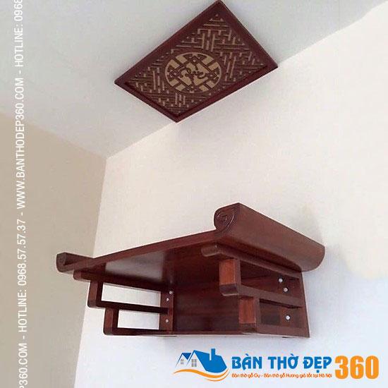 Bàn thờ treo gỗ Gụ Bàn Thờ Đẹp 360 mang may mắn, tài lộc cho gia chủ
