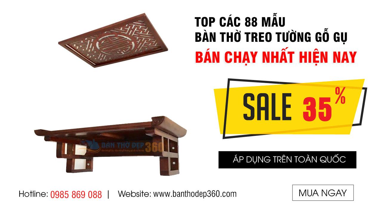 Top 88 Mẫu Bàn thờ treo gỗ Gụ mang may mắn, tài lộc cho gia chủ