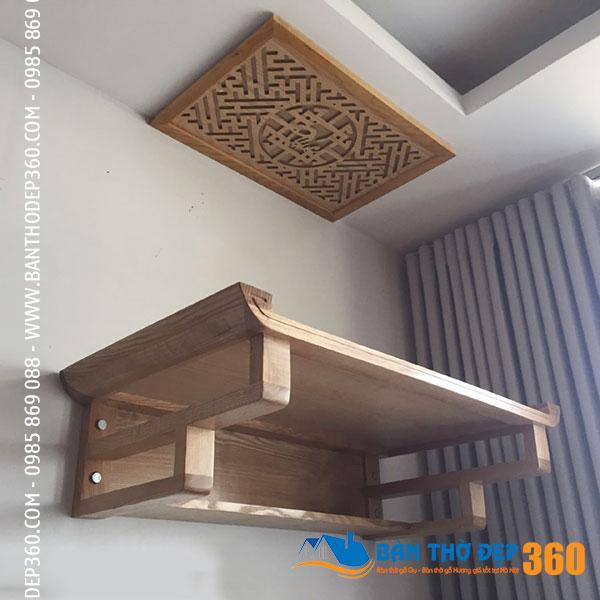 Bàn thờ treo tường gỗ hương Đỏ 89x48cm