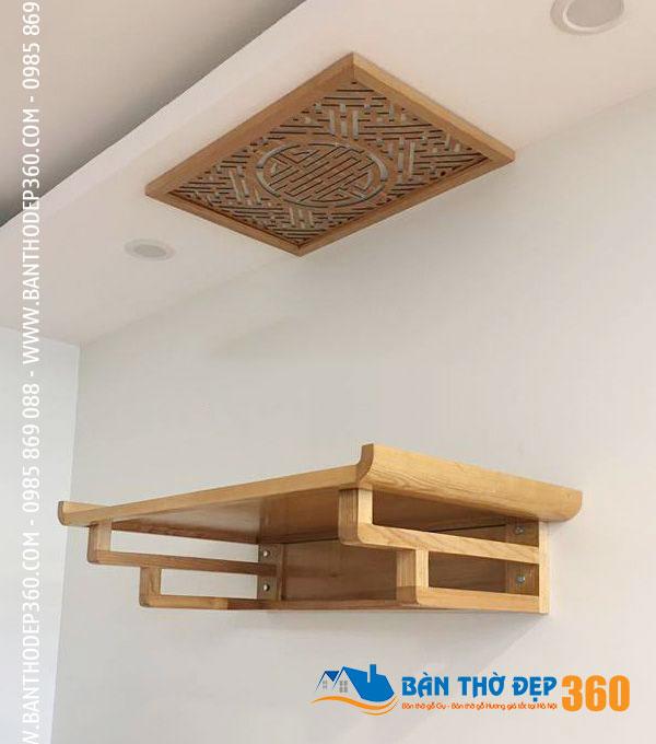 Một số mẫu bàn thờ treo tường gỗ hương đẹp được thiết kế hiện đại