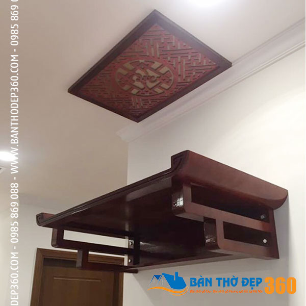 Mẫu bàn thờ treo gia tiên ANAMO bằng gỗ đẹp nhất hiện nay