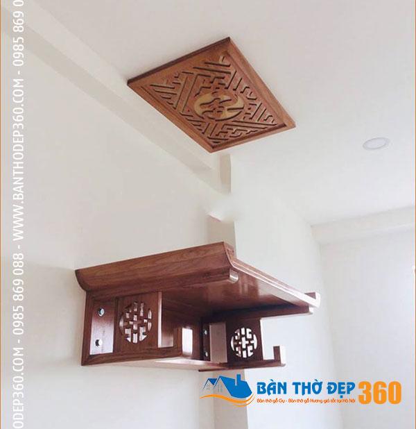 Bàn thờ treo gỗ Hương Bàn Thờ Đẹp 360 - vẻ đẹp sang trọng