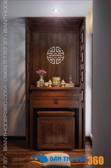 Top các mẫu Bàn thờ đứng Gỗ Hương đẹp, hiện đại