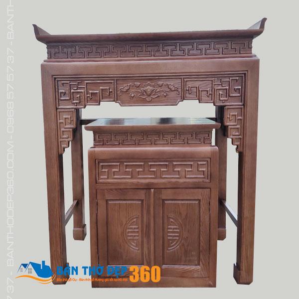 Sập thờ cao cấp gỗ đẹp – Bàn thờ đứng tại Hà Nội