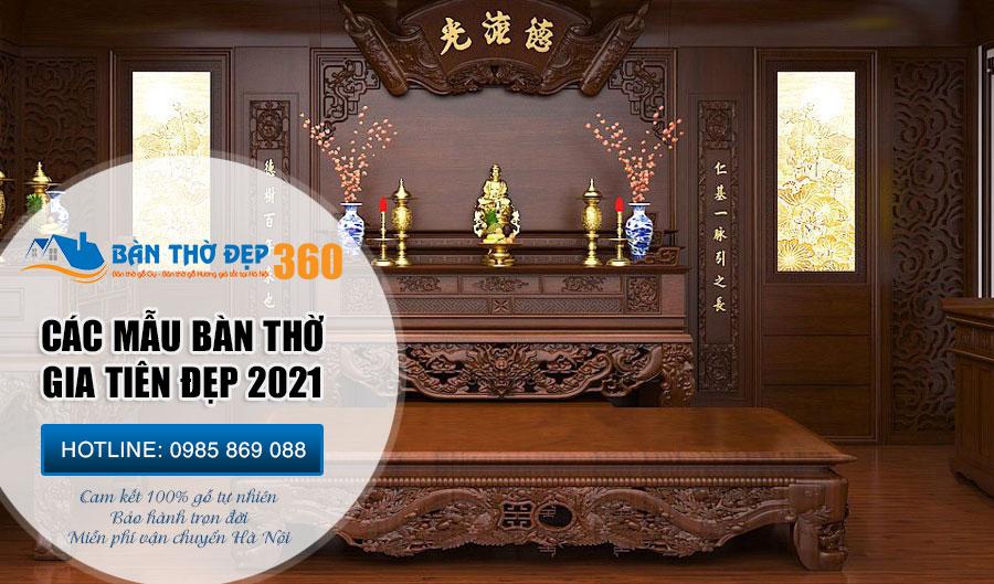 TOP 88 Mẫu bàn thờ gia tiên Đẹp - Hiện đại - Hợp phong thủy 2020