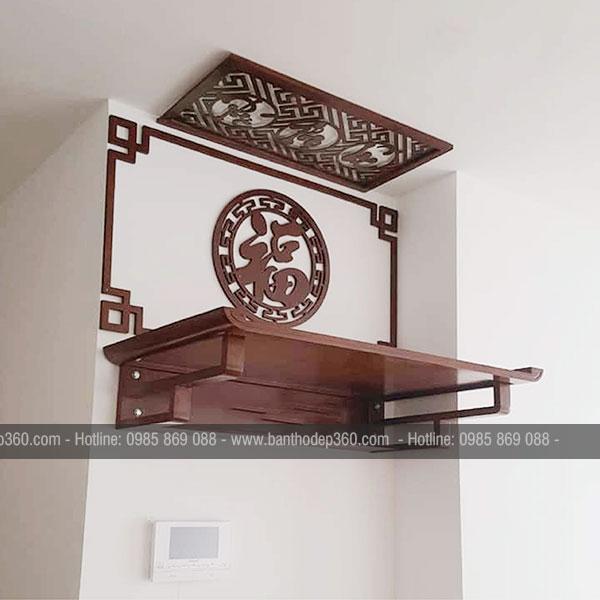 Kích thước bàn thờ treo tường theo phong thủy bao nhiêu