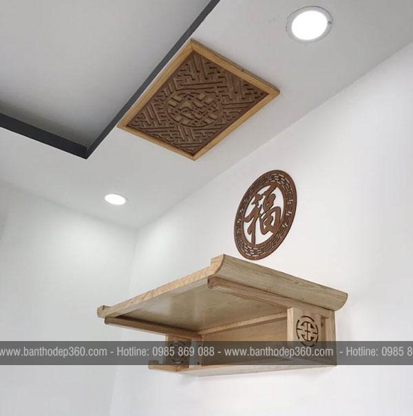 Kích thước bàn thờ treo theo thước lỗ ban hợp phong thủy
