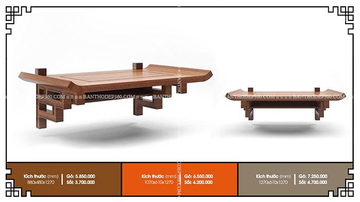 28 Mẫu bàn thờ chung cư hiện đại, chuẩn kích thước lỗ ban