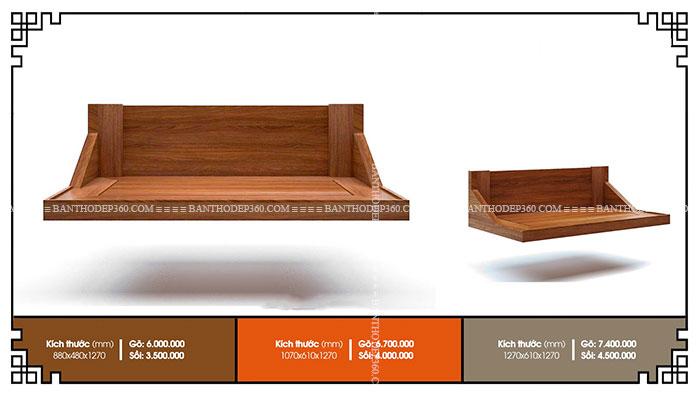 Kích thước bàn thờ chuẩn 2020, nhà chung cư, kích thước tủ