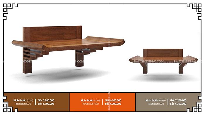 Kích thước bàn thờ treo chung cư theo phong thủy chuẩn